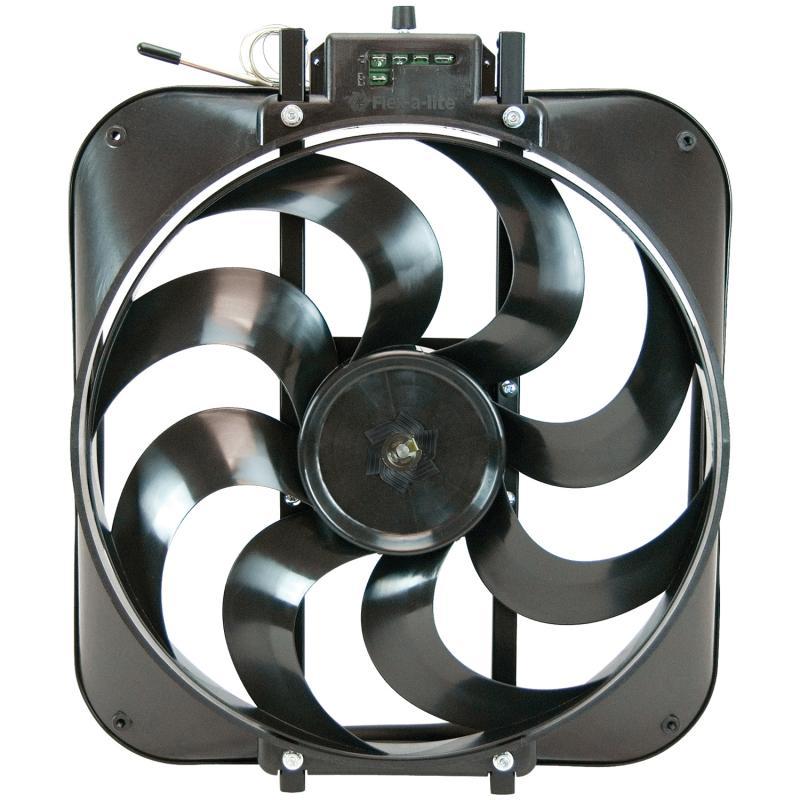 """Flex-A-Lite Fan Electric 15"""" single S blade puller w/ controls"""