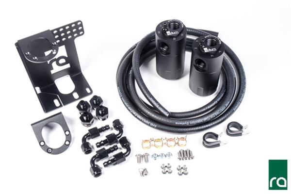 Radium Engineering Dual Catch Can Kit, 90-05 Mazda Mx-5