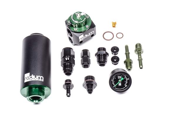 Radium Engineering FPR and Fuel Filter Kit, Stainless, BMW E46 M3