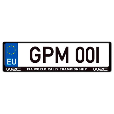 Auto-Style WRC Number Plate Surround