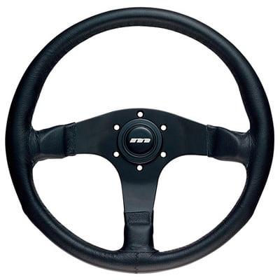 Mountney 3 Spoke Leather Steering Wheel