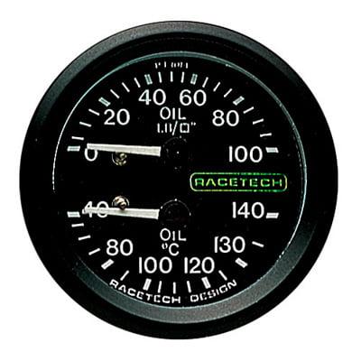 Racetech Oil Pressure – Oil Temperature Dual Gauge