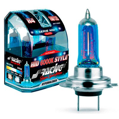Simoni Racing HID Style Headlamp Bulbs 6000K Colour