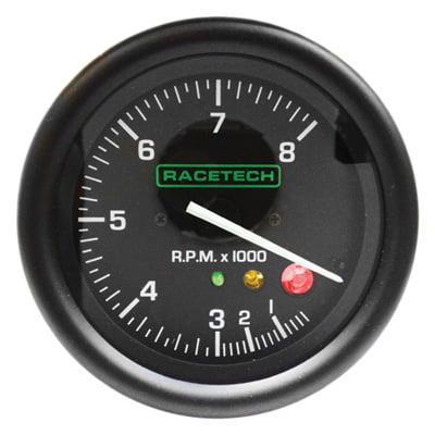 Racetech 80mm Tachometer with Shift Light