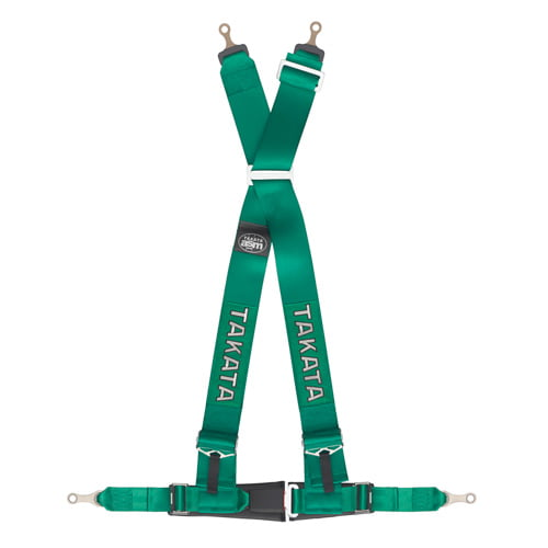 Takata 4-Point Drift III Bolt (Street) Harness With Asm 3 Inch Shoulder Strap 2 Inch Lap Belt Pull Down