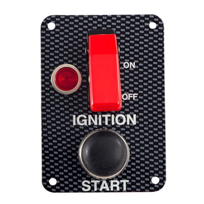 Grayston Carbon Effect Starter Switch Panel