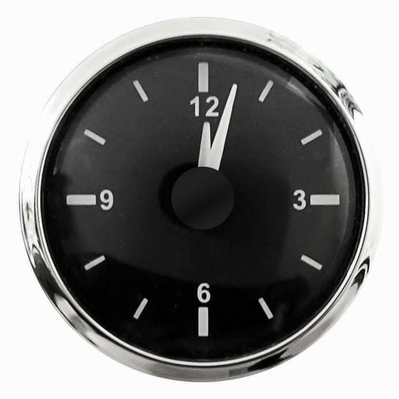E-Tech Engineering Analogue Clock – 52mm – Stainless Steel Bezel, Black