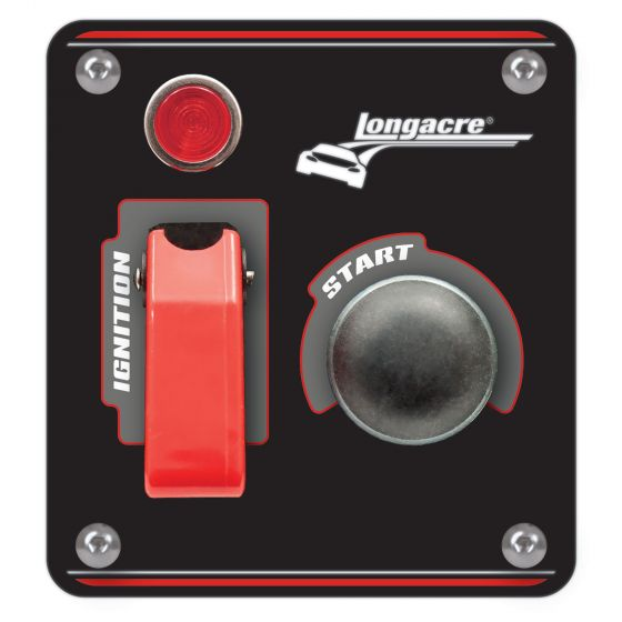 Longacre Black Ignition Switch Panel With Flip Up Cover