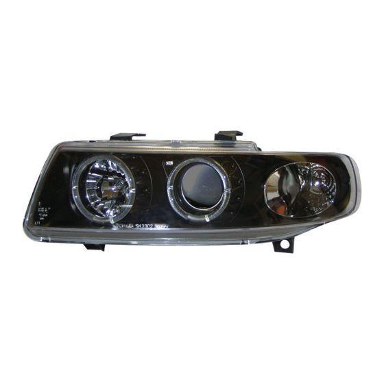 AutoArt Headlights – Black Projector Style Angel Eyes