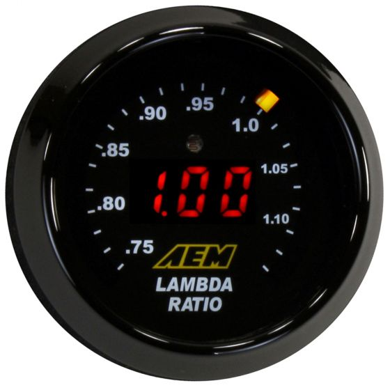 AEM Electronics Digital Wideband UEGO Gauge with Bosch LSU 4.9, Black