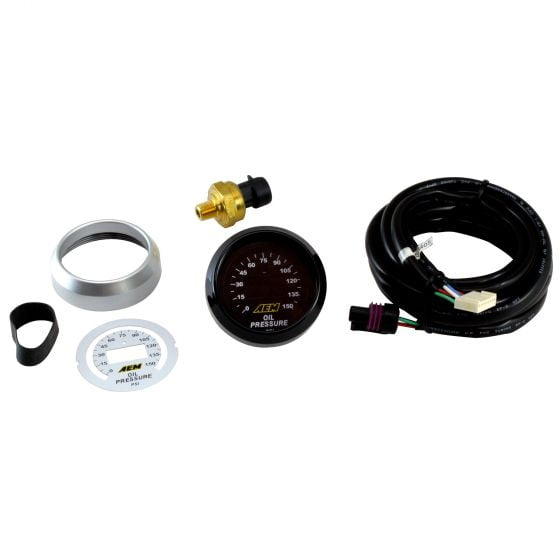 AEM Electronics Digital Oil Pressure Gauge 0-150 PSI, Black,White