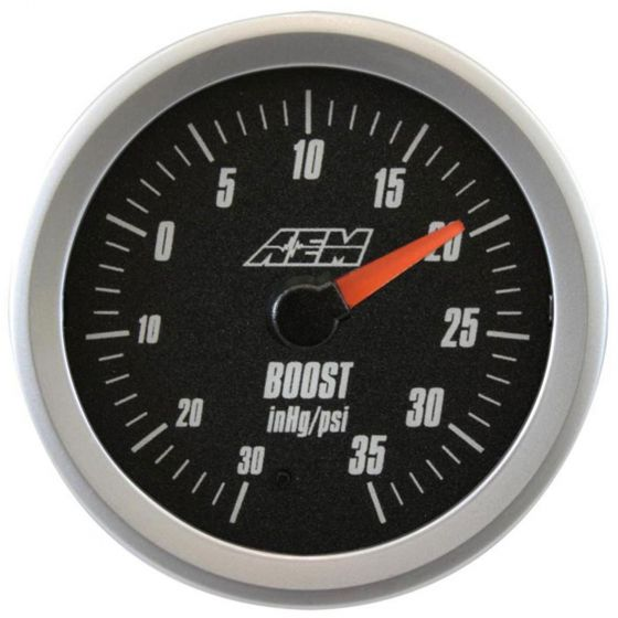 AEM Electronics Boost Display Gauge -30 – 35 psi, Black,White