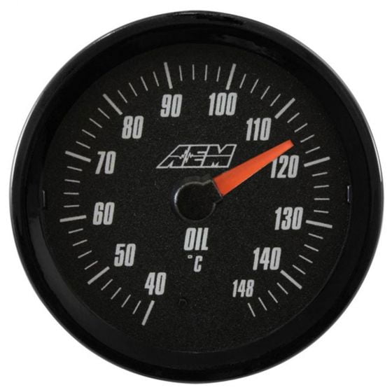 AEM Electronics Analog Oil/Transmission/Water Temperature Gauge 40-148 Degrees, Black,White
