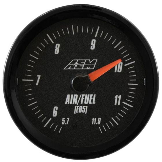 AEM Electronics Analogue E85 Wideband UEGO Gauge, Black,White