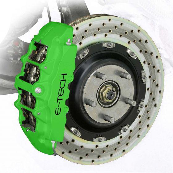 E-Tech Engineering Brake Caliper And Engine Bay Paint – Green, Black,Green