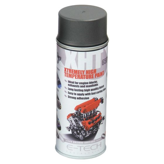 E-Tech Engineering XHT Xtremely High Temperature Paint – Graphite, Black