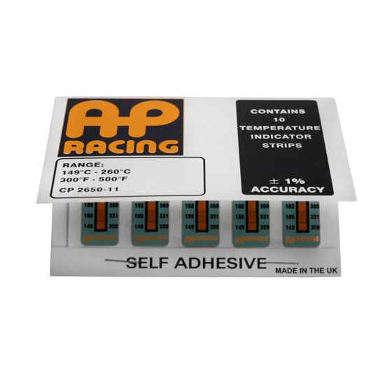 A P Racing Temperature Indication Strips