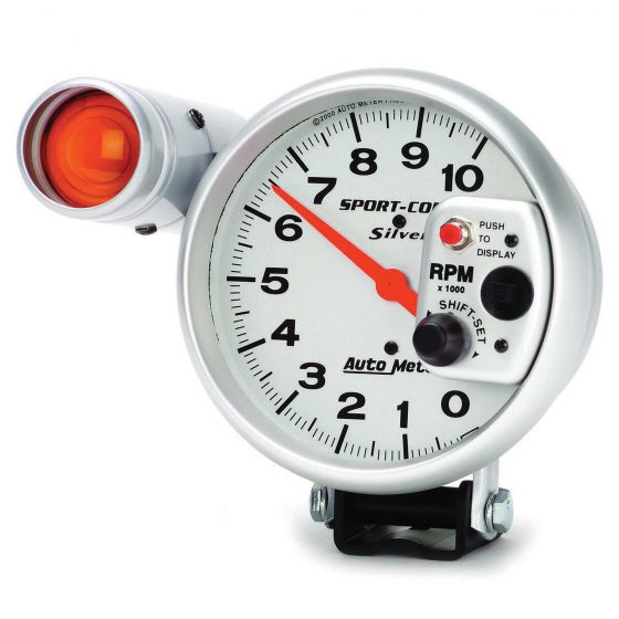 Auto Meter Sport-Comp Silver Tachometers, Silver