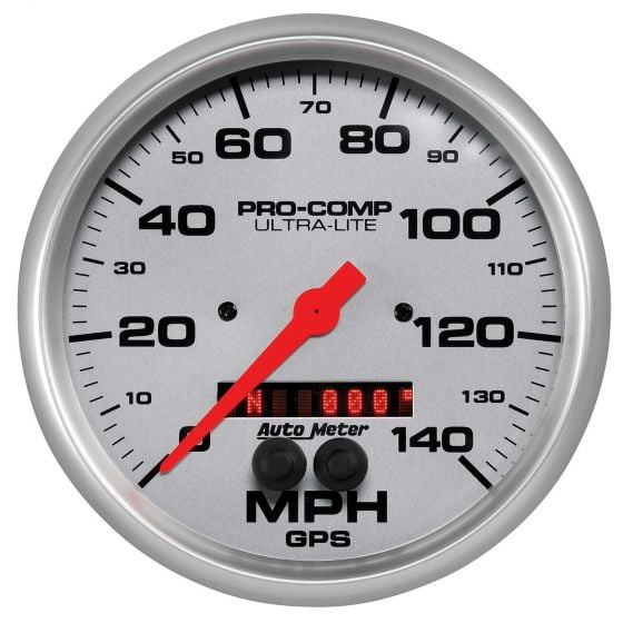 Auto Meter Ultra-Lite Series GPS Enabled Speedometers, Silver