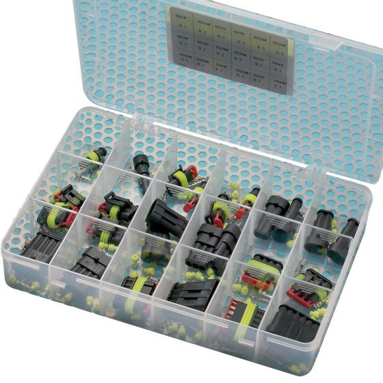 Auto Marine Super Seal Connectors – 26 Piece Kit In Plastic Container