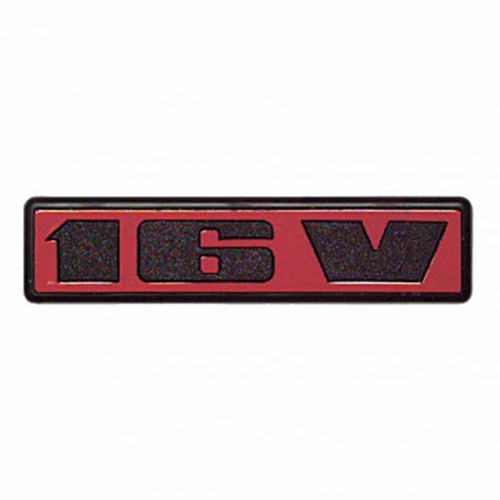 Auto-Style 16V Decal Badge – Red/Black Standard Set of 3