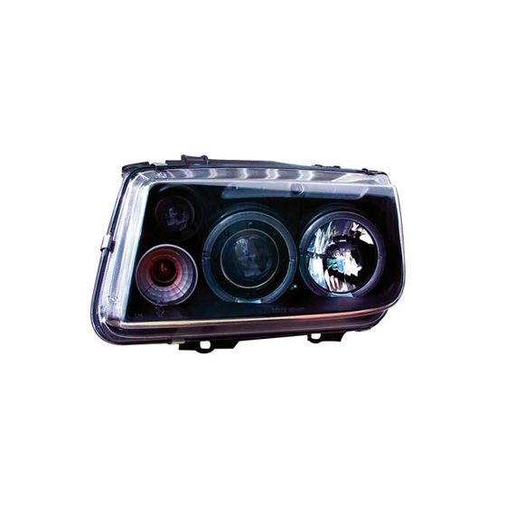 AutoArt Headlights – Black Projector Twin Angel Eyes