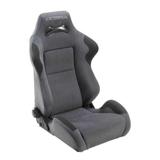 Cobra Daytona Seat – Black Leather, Black