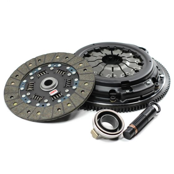 Competition Clutch Stage 2 Street Series 2100 Clutch Kit – Steelback Brass Plus Up to 300lbs Torque Including Flywheel