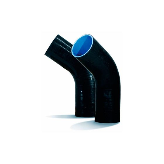 Drift High Grade Black 45 Degree Silicone Hose – 76mm, Blue