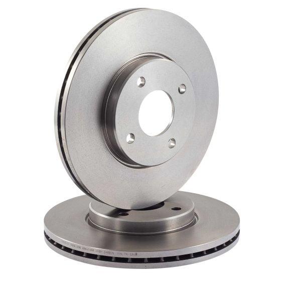 EBC Brakes Brake Discs – Front Pair – Solid, 211mm x 11mm