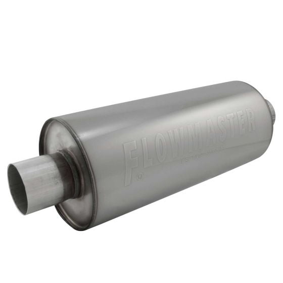 """Flowmaster Stainless DBX Series Race Muffler – 2.25"""" Pipe ID"""