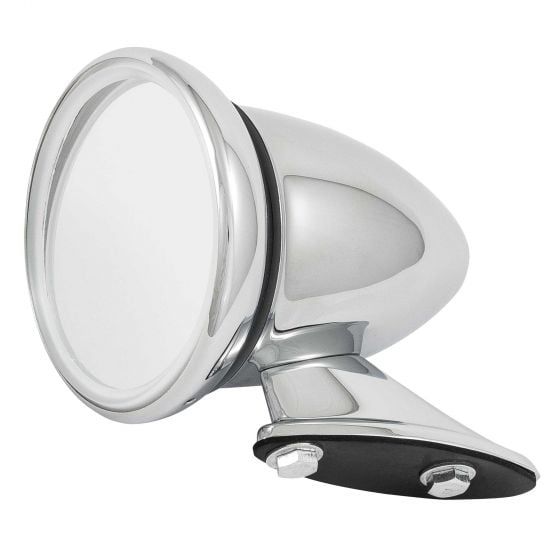 Revotec Stainless Steel Classic Racing Mirror – Flat Glass