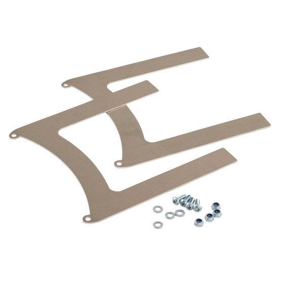 """Revotec Universal Fan Brackets – Fits 10"""" (255mm) Fan In Aluminium"""