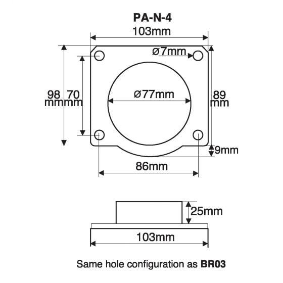 Green Filters Airflow Meter Adaptor – Option 15