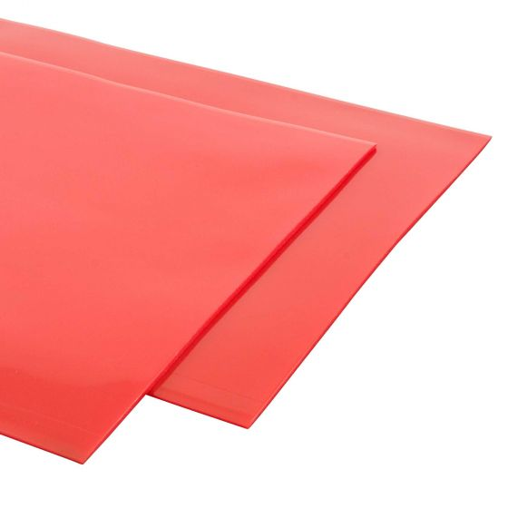 Grayston 4mm Thick Mudflaps – Pair In Red, Red