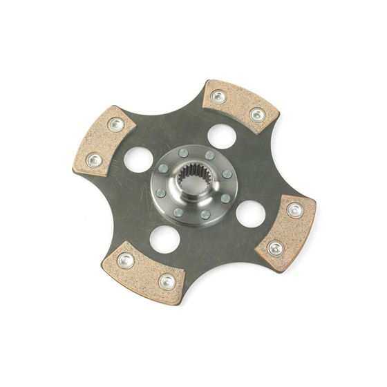 "Helix 7.6 Inch Cerametallic 4 Paddle Sprung Plate – 180mm Diameter, 7/8"" mm x 10T Spline, Race/Rally"