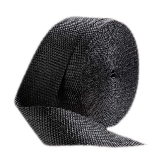 Pitking Products Exhaust Wrap – Black 1 Inch Width x 50ft Length, Black