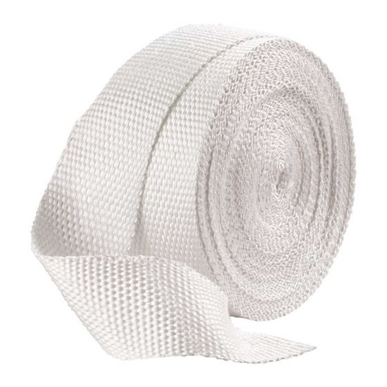 Pitking Products Exhaust Wrap – White 1 Inch Width x 50ft Length, White