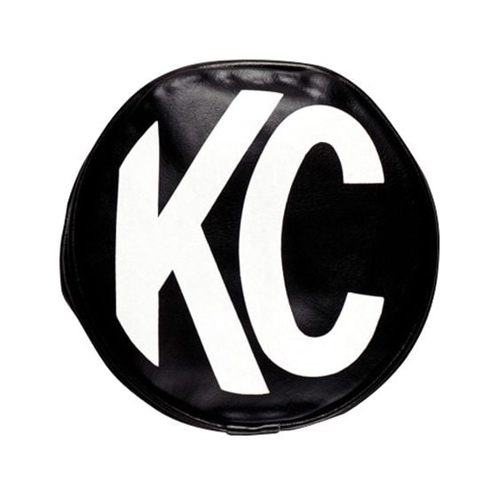 "KC Hilites Light Covers – 5"" Round Black/White KC Soft Vinyl Cover"