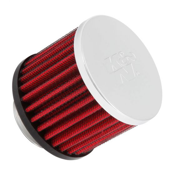 K&N Filters Breather Filter – 35 x 76 x 63mm Chrome Top