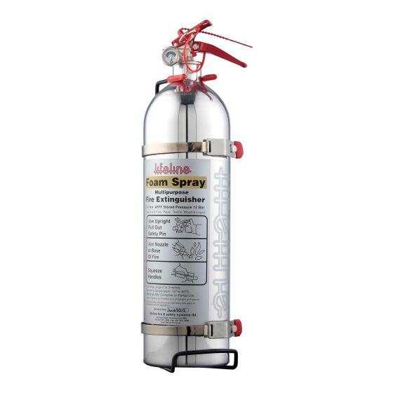 Lifeline Polished Hand Held Fire Extinguisher 1.0 Ltr