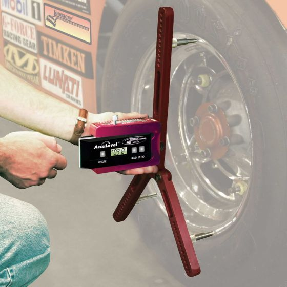 "Longacre Digital Castor Camber Gauge With Adaptor – Up To 22"" Wheels – Frame Only Does Not Include Gauge"