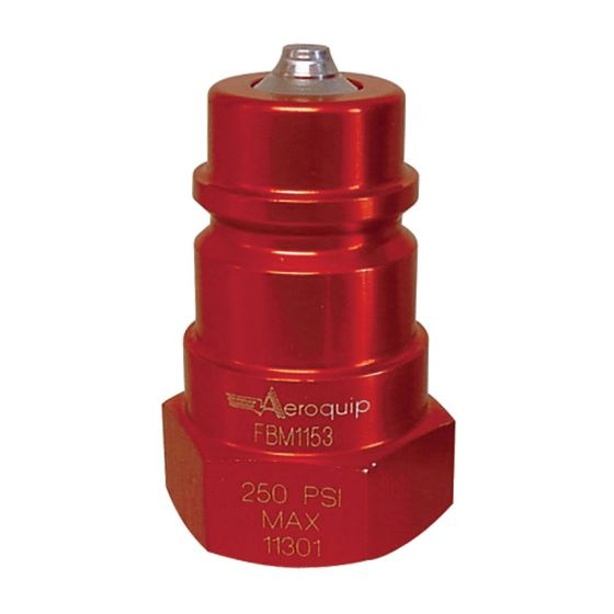 """Aeroquip Radiator/Cooling Refill Coupling – 1/2"""" NPTF Male Alloy"""