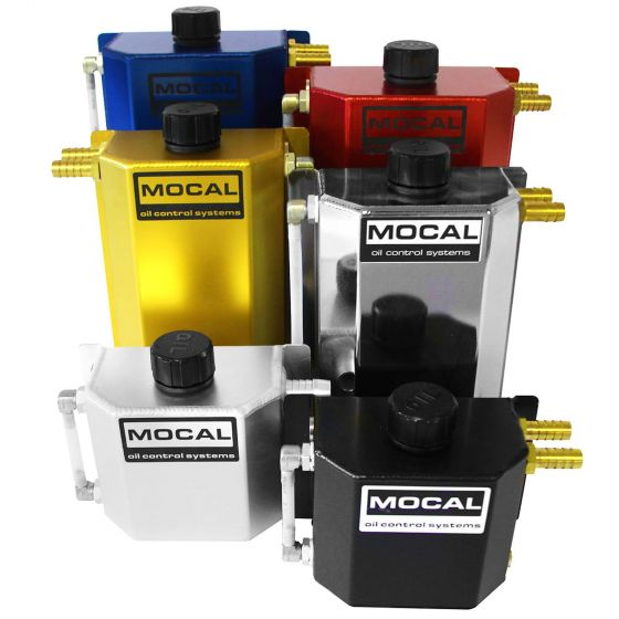 Mocal Alloy Oil Catch Tank – 1 Litre Capacity In Anodised Blue