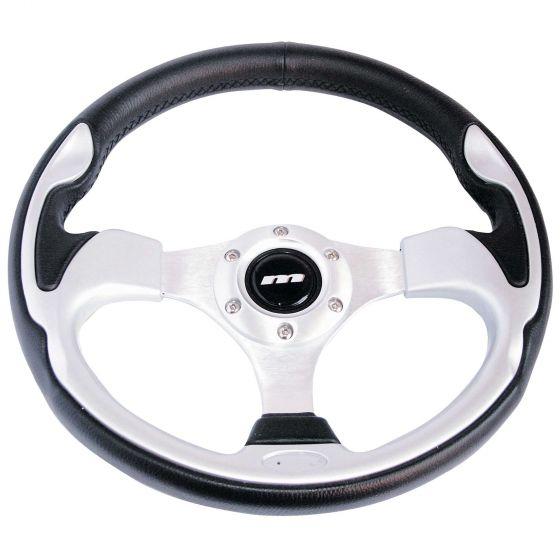 Mountney Sport Range Steering Wheel – Vinyl Rim Silver Inset