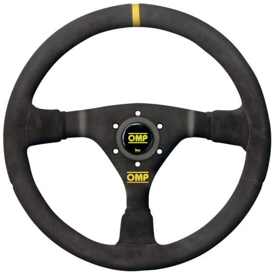 OMP WRC Steering Wheel – Black Suede Black Spokes – 350mm