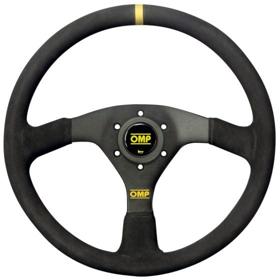 OMP Velocita Steering Wheel – 350mm, Black Suede, Oval 30x25mm