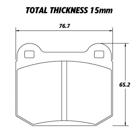 Pagid RST4 Competition Brake Pad Set – Set Of 4 Pads