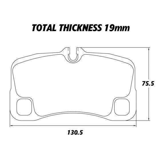 Pagid RSL2 Endurance Brake Pads – Set Of 4 – 19mm Thick