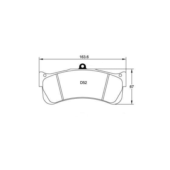 Pagid RSL2 Endurance Brake Pads – Set Of 4 Pads – 25mm Thick